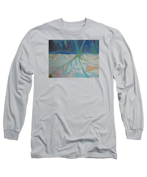 Winter Night Shadows Long Sleeve T-Shirt