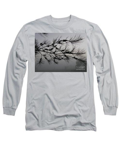 Winter Pine Branch Long Sleeve T-Shirt