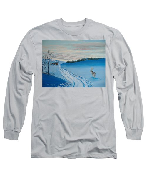 Winter Sentinel Long Sleeve T-Shirt by Norm Starks