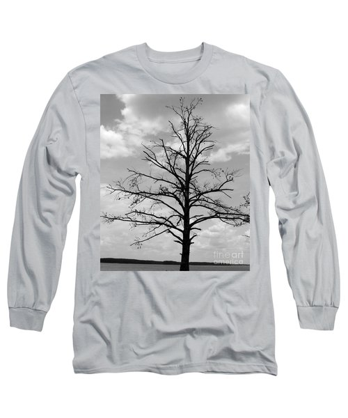 Long Sleeve T-Shirt featuring the photograph Winter Tree by Andrea Anderegg