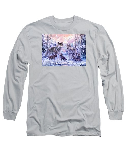 Winter Wolf Family  Long Sleeve T-Shirt