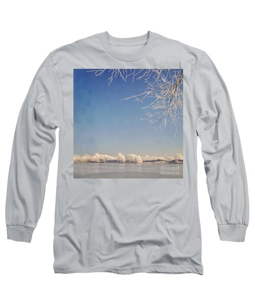 Winter Wonderland With Snowflakes Decoration. Long Sleeve T-Shirt