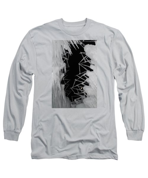 Wintery Ice Farming  Long Sleeve T-Shirt