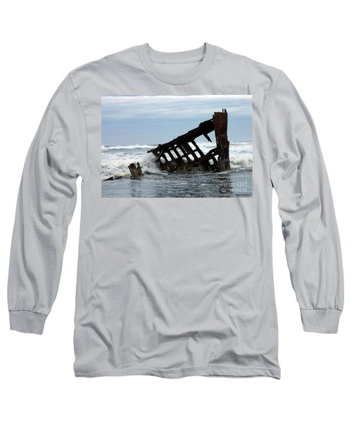 Long Sleeve T-Shirt featuring the photograph Wreck Of The Peter Iredale by Chalet Roome-Rigdon