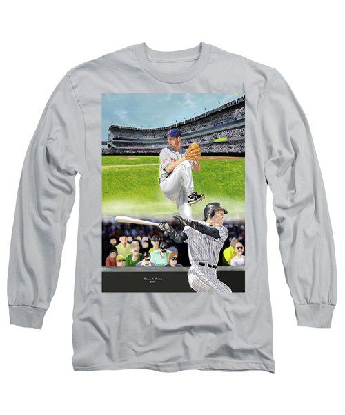 Yankees Vs Indians Long Sleeve T-Shirt by Thomas J Herring
