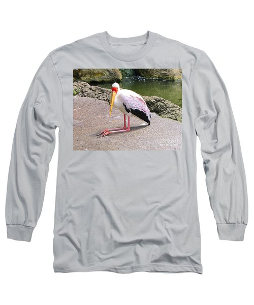 Long Sleeve T-Shirt featuring the photograph Yellow-billed Heron by Sergey Lukashin