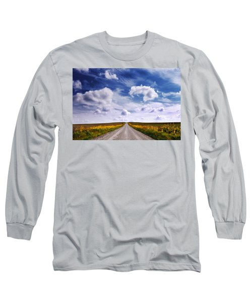 Yellow Flower Road Long Sleeve T-Shirt