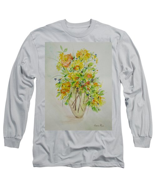 Yellow Flowers Long Sleeve T-Shirt by Judith Rhue
