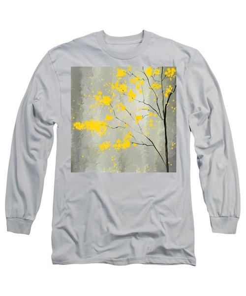 Yellow Foliage Impressionist Long Sleeve T-Shirt
