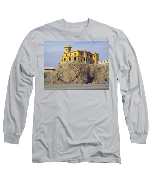 Long Sleeve T-Shirt featuring the photograph Yellow On The Rocks by Lew Davis