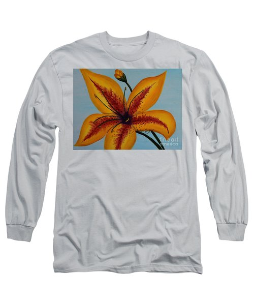 Yellow Oriental Lily Long Sleeve T-Shirt