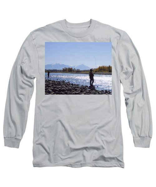 Yellowstone River Fly Fishing Long Sleeve T-Shirt