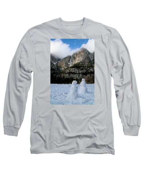 Yosemite Falls Snowmen Long Sleeve T-Shirt