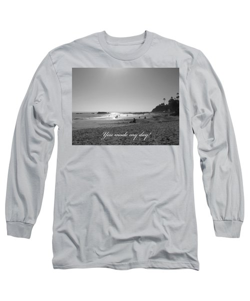 Long Sleeve T-Shirt featuring the photograph You Made My Day by Connie Fox