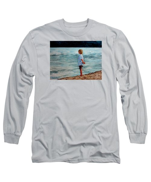 Young Lad By The Shore Long Sleeve T-Shirt