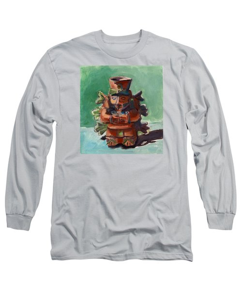 Long Sleeve T-Shirt featuring the painting Yucatan Prince by Pattie Wall