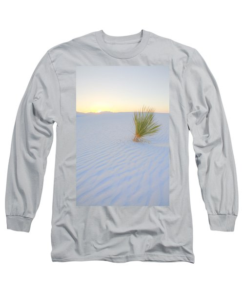 Long Sleeve T-Shirt featuring the photograph Yucca Plant At White Sands by Alan Vance Ley