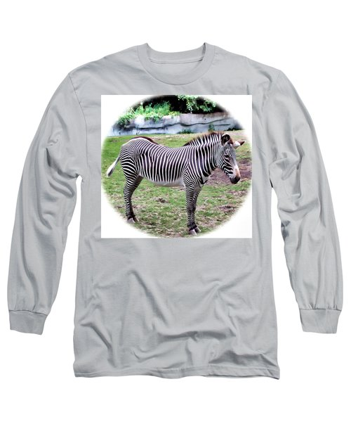 Long Sleeve T-Shirt featuring the photograph Zebra 1 by Dawn Eshelman