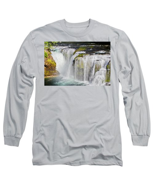 Lower Falls On The Upper Lewis River Long Sleeve T-Shirt