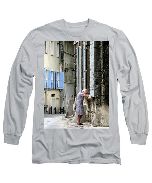 Long Sleeve T-Shirt featuring the photograph Another Nap.arles.france by Jennie Breeze