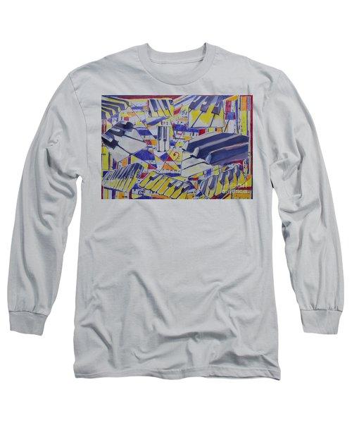 Jumping Jazz Long Sleeve T-Shirt by Jan Bennicoff
