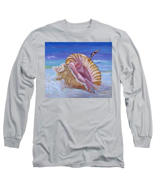 Magic Conch Shell Long Sleeve T-Shirt by Phyllis Kaltenbach