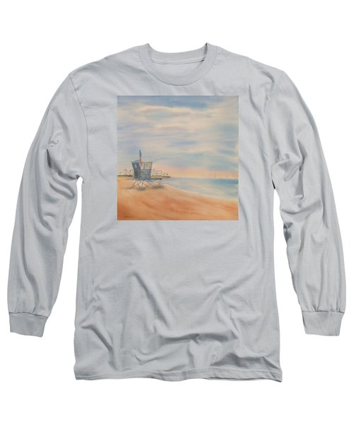 Morning By The Beach Long Sleeve T-Shirt by Debbie Lewis