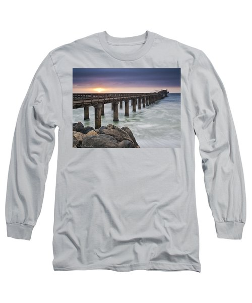 Pier At Sunset Long Sleeve T-Shirt