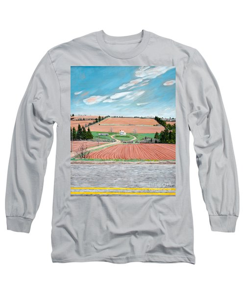 Red Soil On Prince Edward Island Long Sleeve T-Shirt
