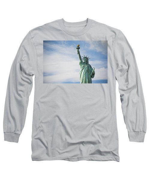 Long Sleeve T-Shirt featuring the photograph Statue Of Liberty by Theodore Jones