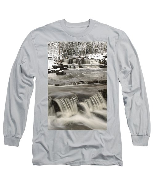 Waterfalls With Fresh Snow Thunder Bay Long Sleeve T-Shirt