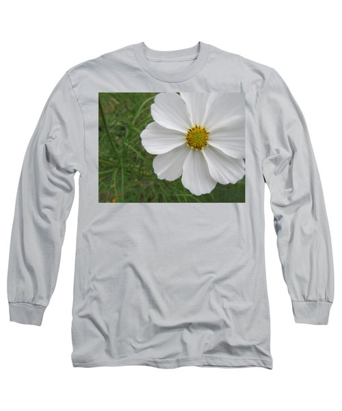Long Sleeve T-Shirt featuring the photograph White Beauty by Tina M Wenger