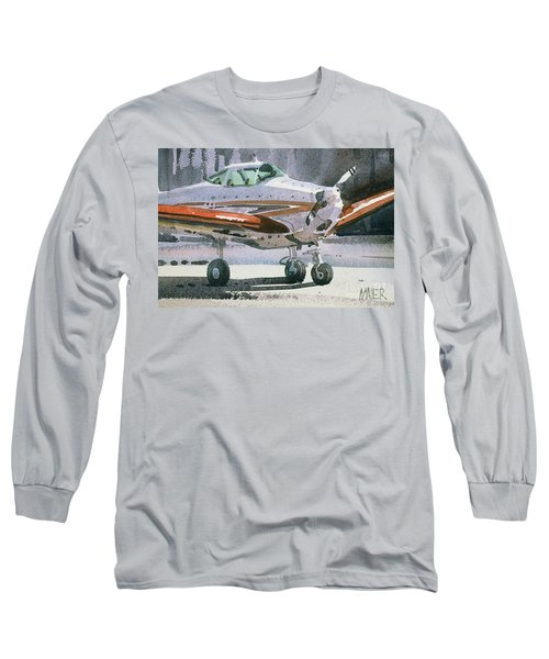 Long Sleeve T-Shirt featuring the painting Private Plane by Donald Maier
