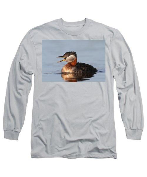 Rednecked Grebe Long Sleeve T-Shirt