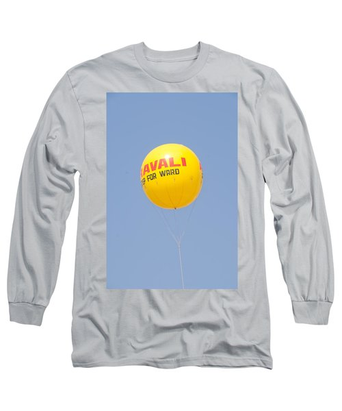 Long Sleeve T-Shirt featuring the photograph A Hot Air Balloon In The Blue Sky by Ashish Agarwal