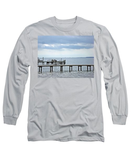 A Stormy Day On The Pamlico River Long Sleeve T-Shirt