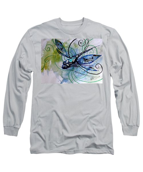 Abstract Dragonfly 10 Long Sleeve T-Shirt