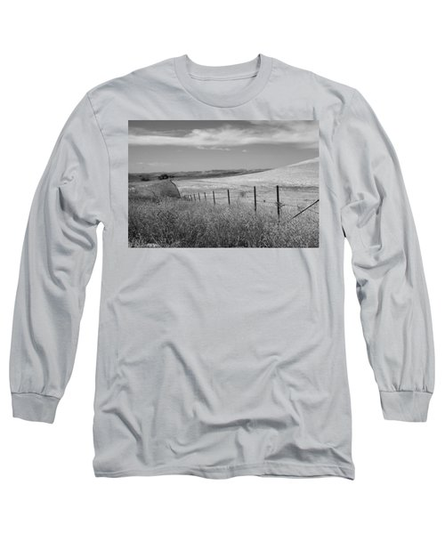 Long Sleeve T-Shirt featuring the photograph Along The Line by Kathleen Grace