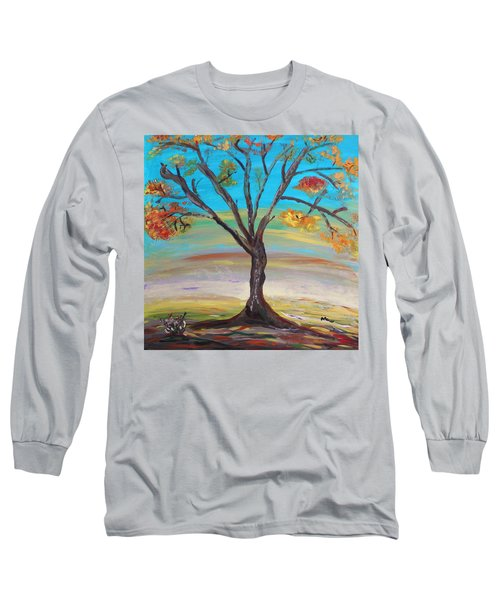 An Autumn Locust Tree Long Sleeve T-Shirt