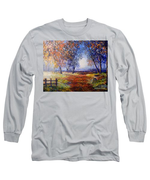 Autumn Wheelbarrow Long Sleeve T-Shirt