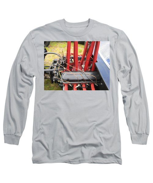 Long Sleeve T-Shirt featuring the photograph Barbwire Engine by Kym Backland