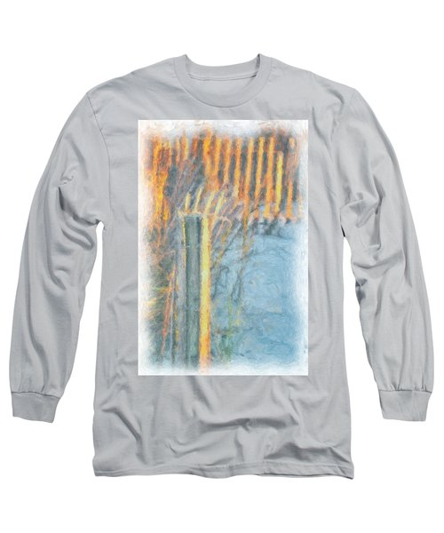 Long Sleeve T-Shirt featuring the photograph Beach Fence by Lynne Jenkins