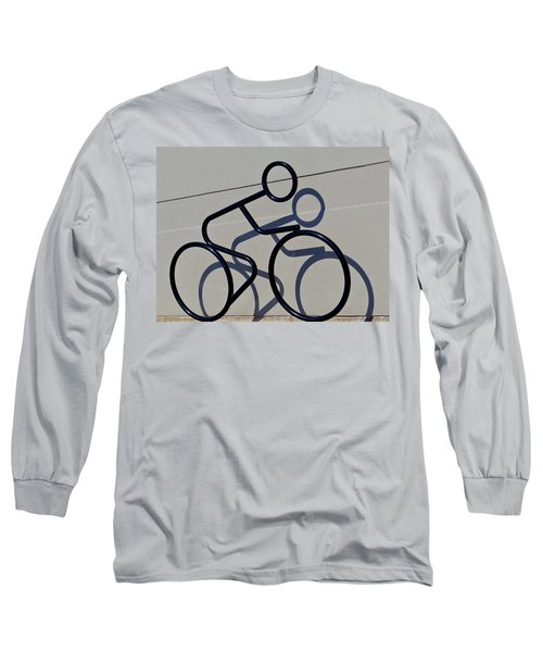 Bicycle Shadow Long Sleeve T-Shirt by Julia Wilcox
