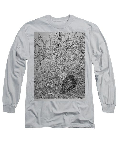 Bird In Winter Long Sleeve T-Shirt by Daniel Reed