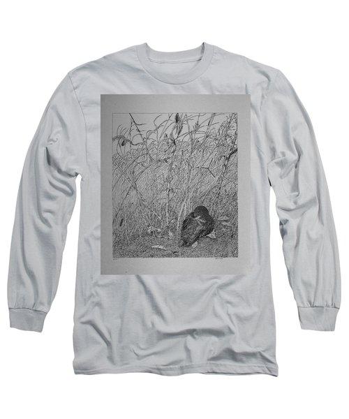 Bird In Winter Long Sleeve T-Shirt