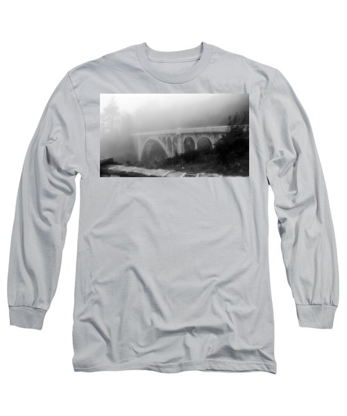 Bridge In Fog Long Sleeve T-Shirt