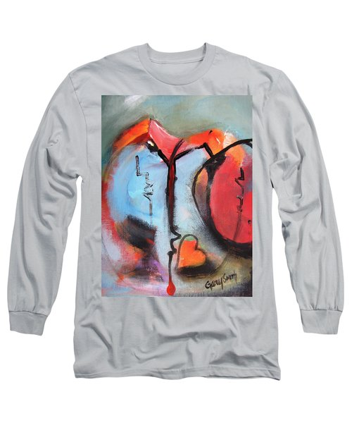 Broken And Blue Heart Long Sleeve T-Shirt by Gary Smith