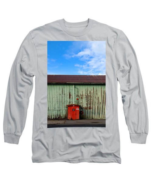 Long Sleeve T-Shirt featuring the photograph Building Series - Red Shack by Kathleen Grace
