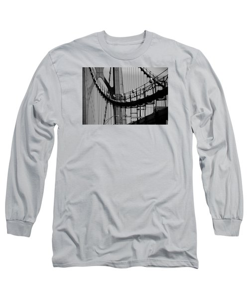 Long Sleeve T-Shirt featuring the photograph Cables by John Schneider