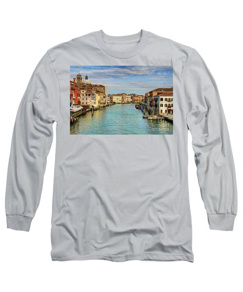 Canals Of Venice  Long Sleeve T-Shirt